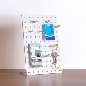 Wielofunkcyjna tablica Pegboard 30x20 cm, biała