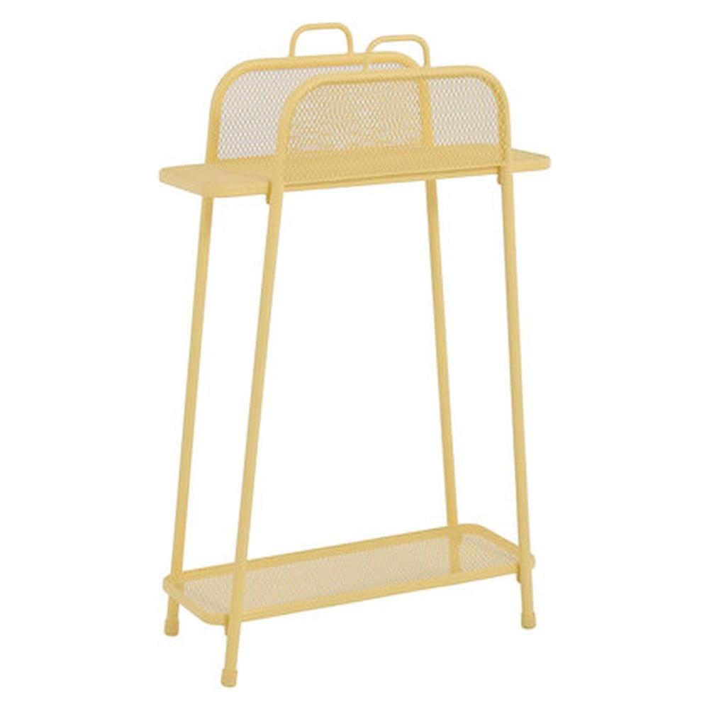 Żółty metalowy regał na balkon ADDU MWH, wys. 105,5 cm