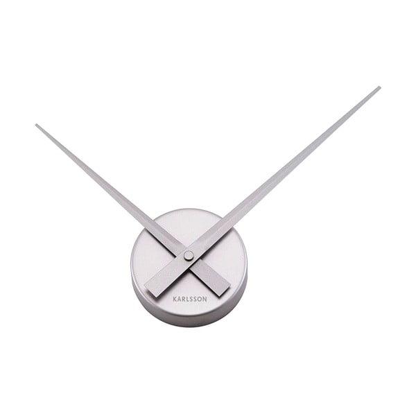 Srebrny zegar scienny Present Time Mini