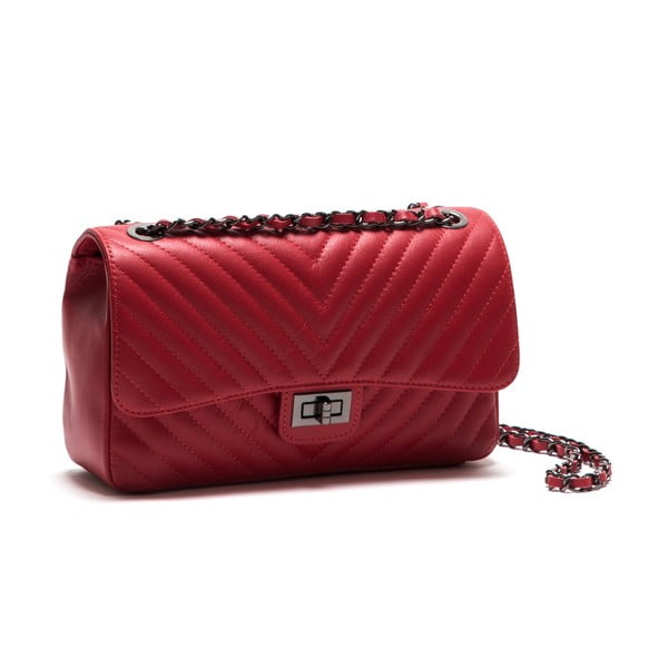 Skórzana torebka Anna Luchini 2118 Rosso