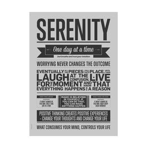 Plakat autorski Serenity Grey, 50x70 cm