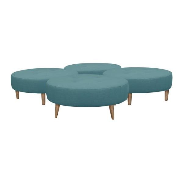 Niebieski puf/stolik Helga Interiors Nolan