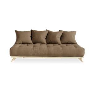 Sofa z brązowym obiciem Karup Design Senza Natural/Mocca