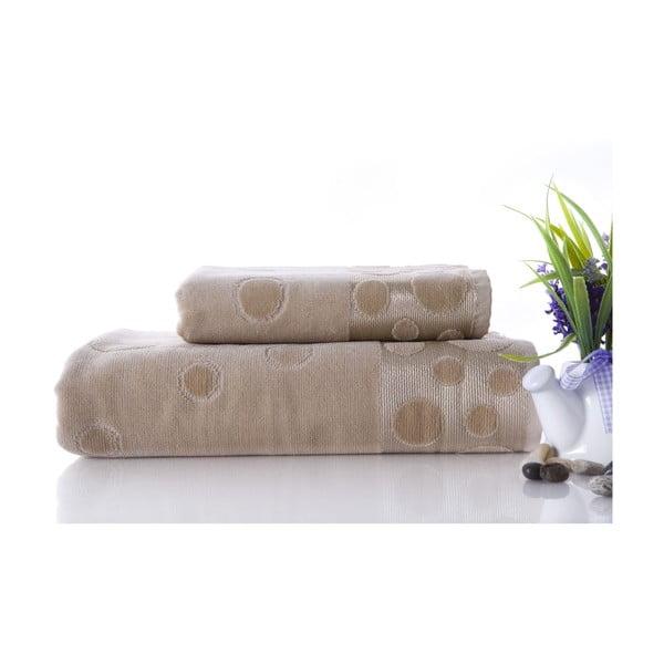 Zestaw 2 ręczników Tropical Beige, 70x140 i 50x90 cm