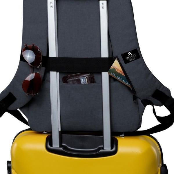 Antracytowy plecak z portem USB My Valice GALAXY Smart Bag