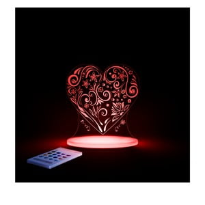Dziecięca lampka nocna LED Aloka Serce