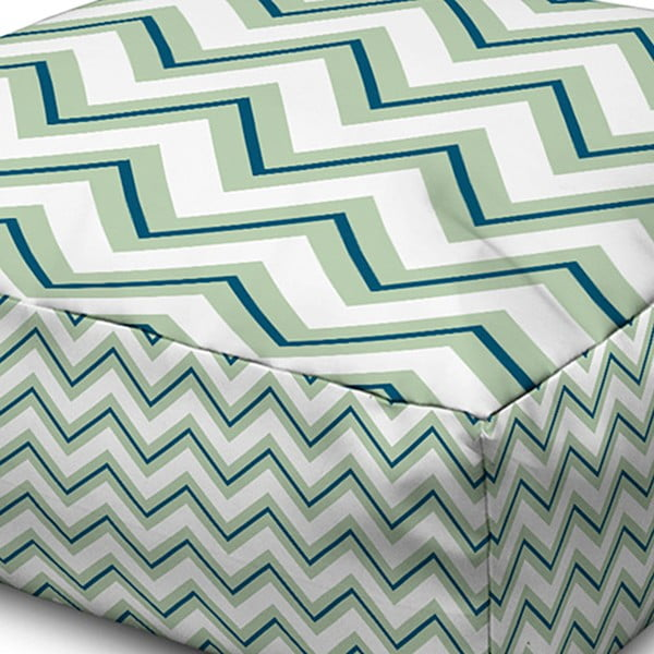 Puf Margao Geometric Green