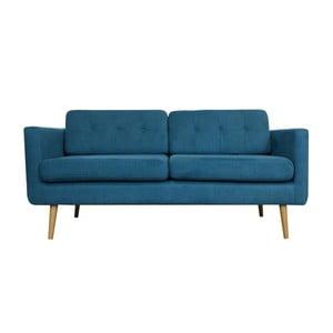 Trzyosobowa sofa York, granatowa
