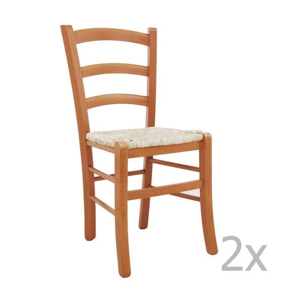 Zestaw 2 krzeseł Castagnetti Lavagna, karmelowe