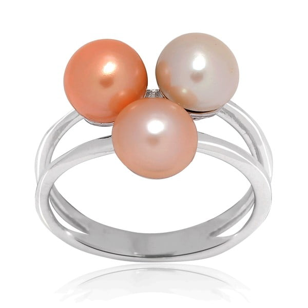 Pierścionek Pure Pearls Peach, rozm. 58