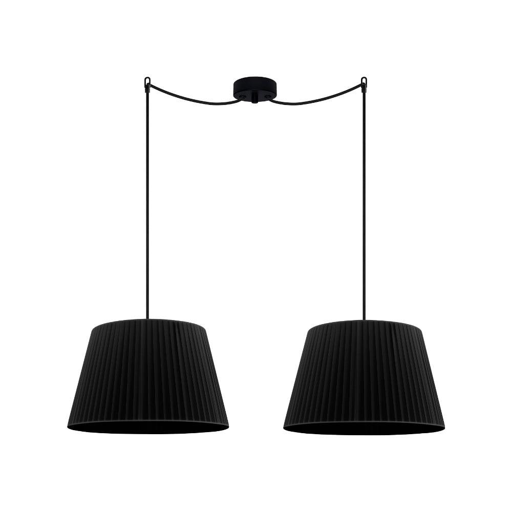 Czarna podwójna lampa wisząca Sotto Luce KAMI Elementary M 2S