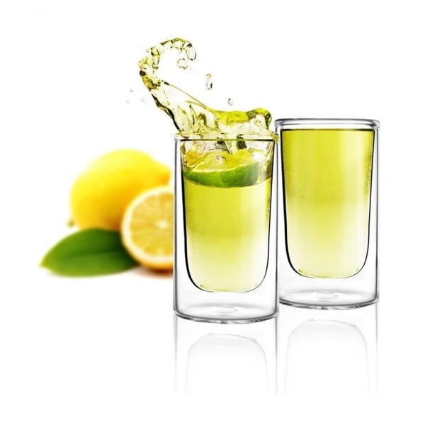 Zestaw 2 szklanek z podwójną ścianką Vialli Design Amo Shot, 50 ml