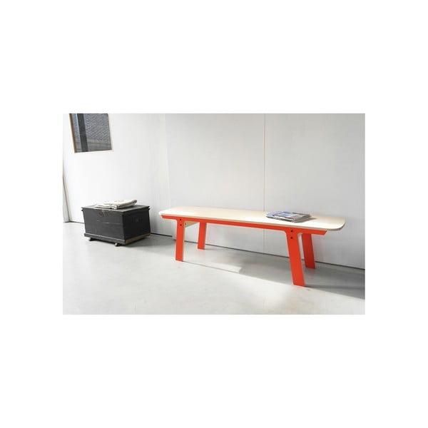 Pomarańczowa ławka rform Slim 01, dł. 165 cm