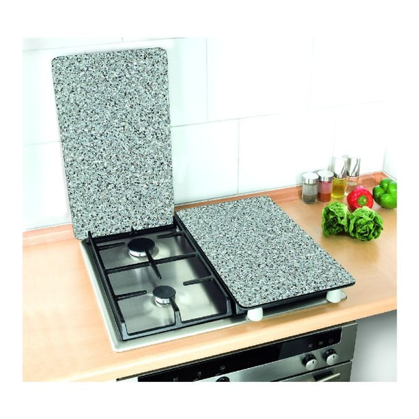 Szklana płyta ochronna Granite, 2 sztuki