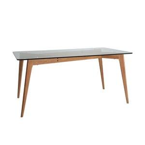 Stół do jadalni z brązowymi nogami Marckeric Janis, 160x90 cm