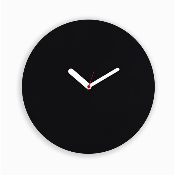 Zegar naścienny Draw Up Wall Black