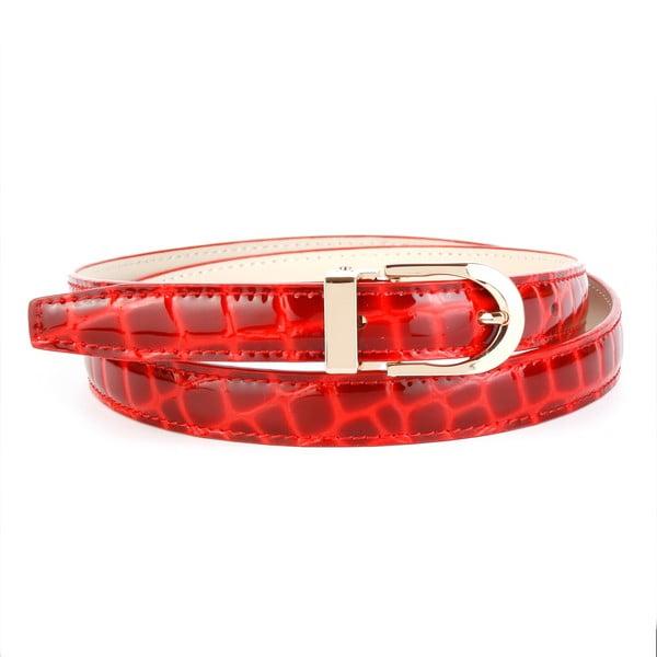 Pasek skórzany damski 434R Red, 100 cm