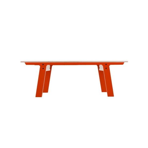 Pomarańczowa ławka rform Slim 01, dł. 133 cm