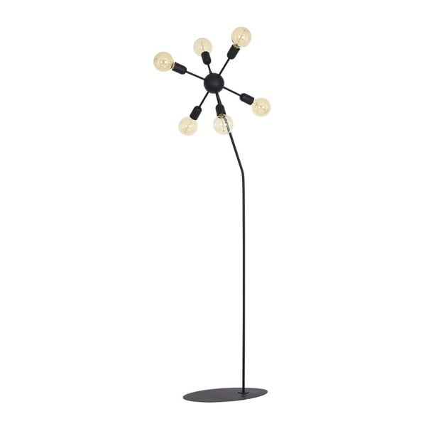 Czarna lampa stojąca Scorpius Suro