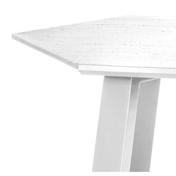 Stolik Hexagon Pearl White, 105x37x61 cm