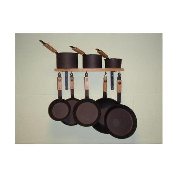 Żeliwny komplet - 5 patelni i 3 rondle