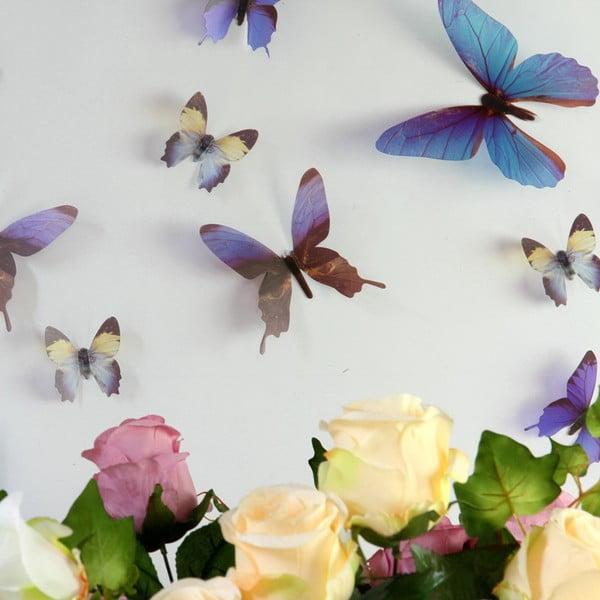 Naklejki motyle 3D Walplus Streak Butterfly Blue