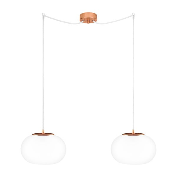 Podwójna lampa  Dosei Elementary, opal matte/copper/white/copper
