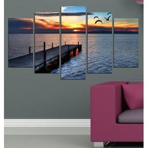 5-częściowy obraz Nad jeziorem
