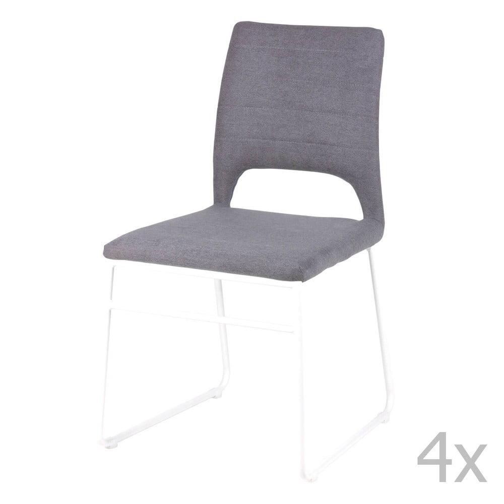 Zestaw 4 szarych krzeseł do jadalni sømcasa Nessa