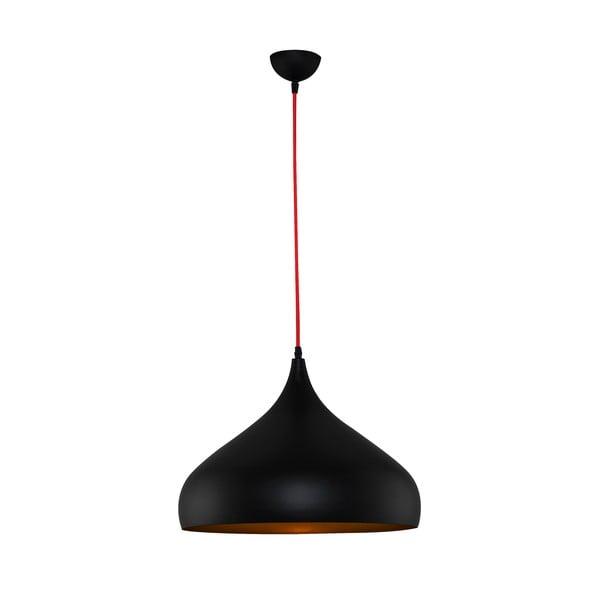 Czarna lampa wisząca Sandra