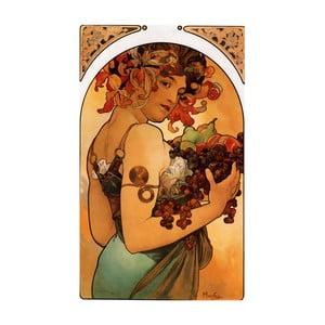 Obraz Alfonsa Muchy - Fruit, 60x90 cm