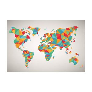 Obraz Homemania Maps World Puzzle, 70x100 cm