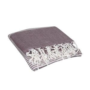 Bordowy ręcznik hammam Hermes Red, 90x190cm