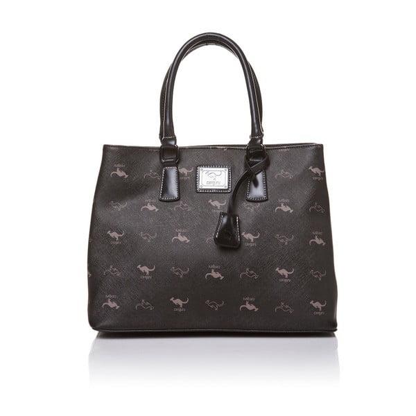 Skórzana torebka do ręki Canguru Tag, czarna