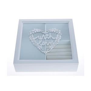 Szkatułka na biżuterię Ewax Jewellery Box, 24x24 cm