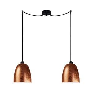 Czarno-miedziana podwójna lampa wisząca Sotto Luce AWA Elementary 2S
