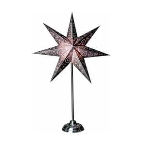 Świecąca gwiazda ze stojakiem Antique Purple, 70 cm