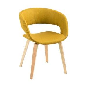 Żółte krzesło Actona Grace