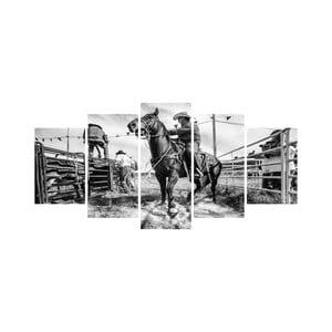 Wieloczęściowy obraz Black&White no. 33, 100x50 cm