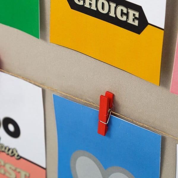Ramka na zdjęcia z klipsami Clips, 51x43 cm