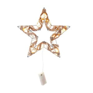Gwiazdka świecąca z ratanu i LED lampkami Unimasa