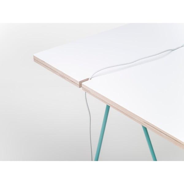 Blat do stołu Studio 130x60 cm, biały