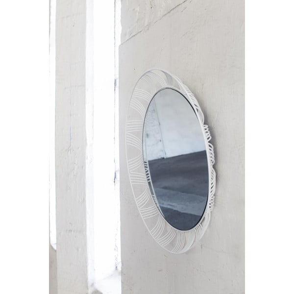 Białe okrągłe lustro Serax Iron