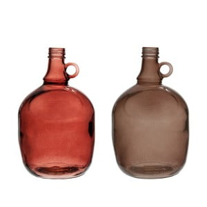 Komplet 2 wazonów Jug Burgundy