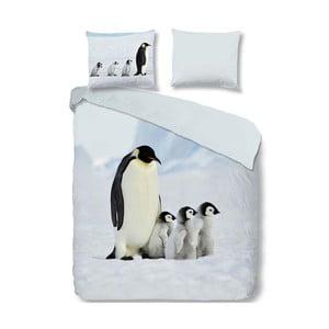 Bawełniana pościel jednoosobowa Good Morning Penguins, 140x200 cm