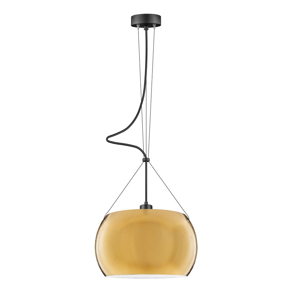 Lampa wisząca w złotym kolorze Sotto Luce MYOO Elementary
