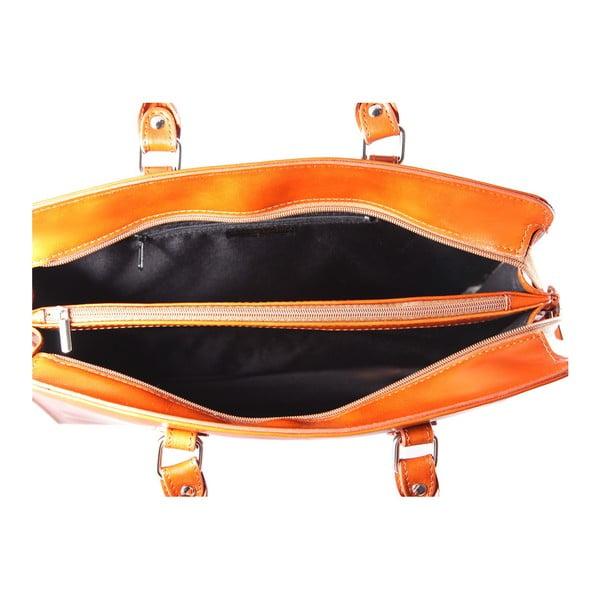 Karmelowa skórzana torba Camilla