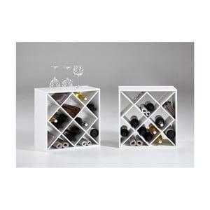 Zestaw 2 białych stojaków na wino Riki2