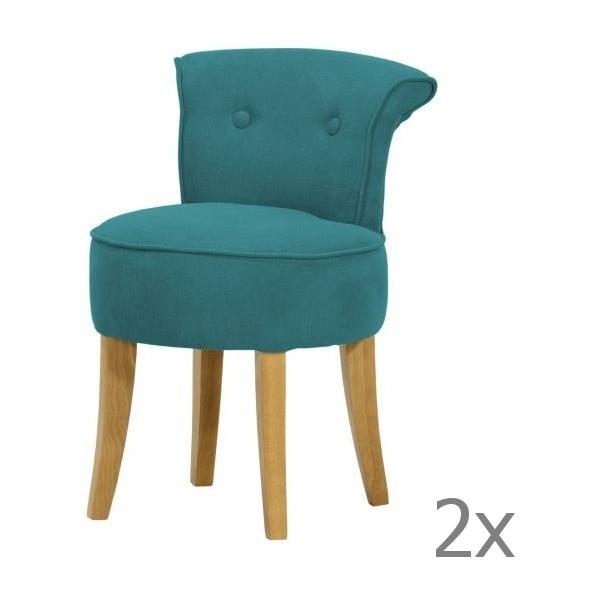 Komplet 2 krzeseł George Soro Turquoise