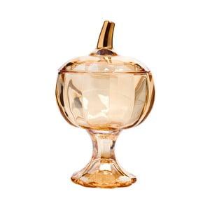 Pomarańczowa cukierniczka szklana w kształcie jabłka Mezzo, 550 ml